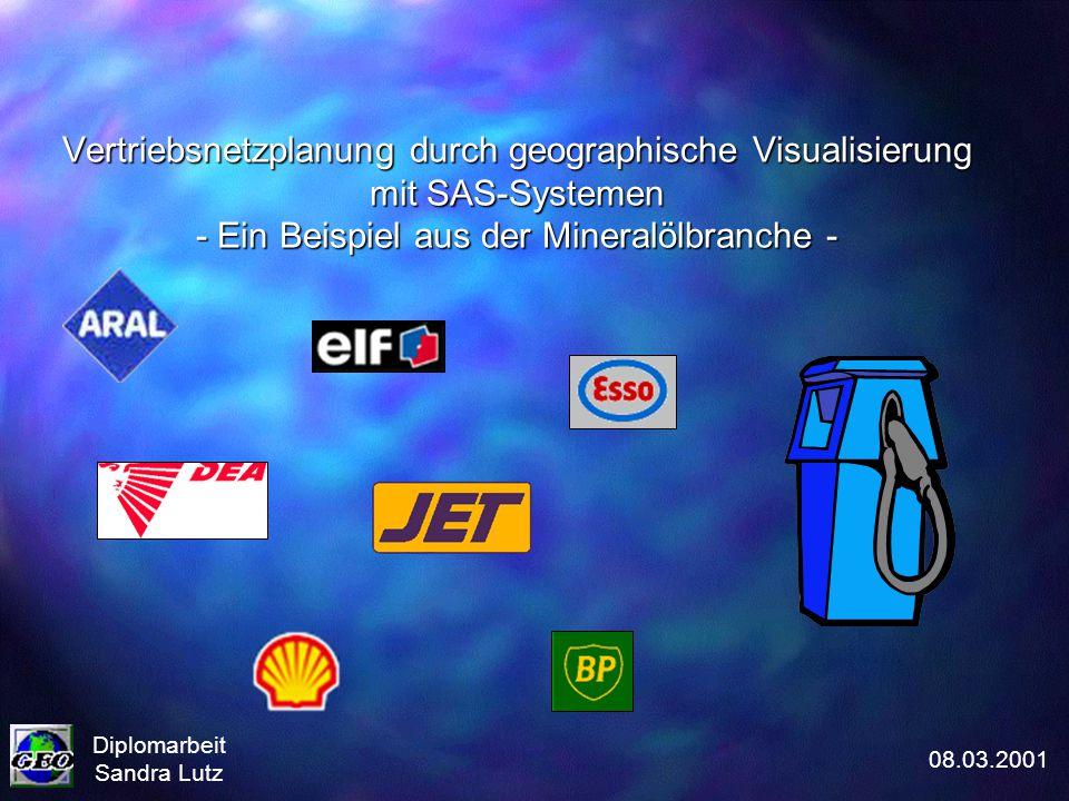 Vertriebsnetzplanung durch geographische Visualisierung mit SAS-Systemen - Ein Beispiel aus der Mineralölbranche - Diplomarbeit Sandra Lutz 08.03.2001
