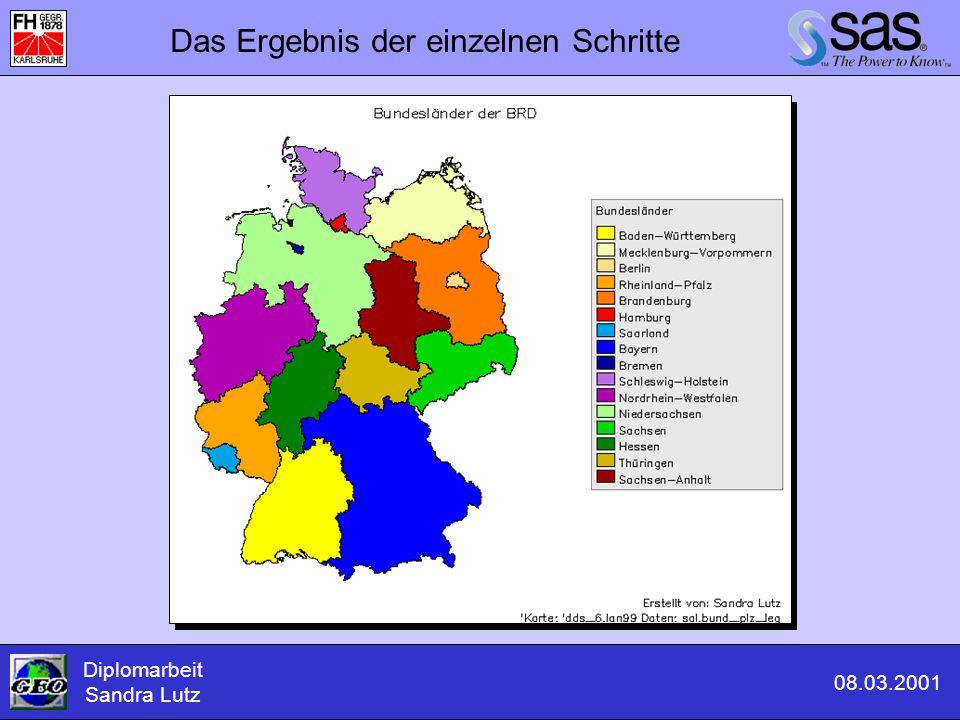 Das Ergebnis der einzelnen Schritte Diplomarbeit Sandra Lutz 08.03.2001
