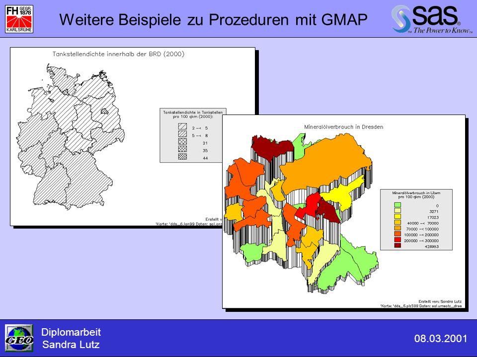 Weitere Beispiele zu Prozeduren mit GMAP Diplomarbeit Sandra Lutz 08.03.2001