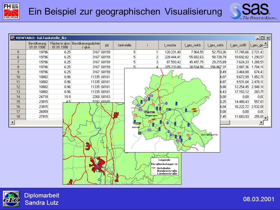 Diplomarbeit Sandra Lutz 08.03.2001 Ein Beispiel zur geographischen Visualisierung
