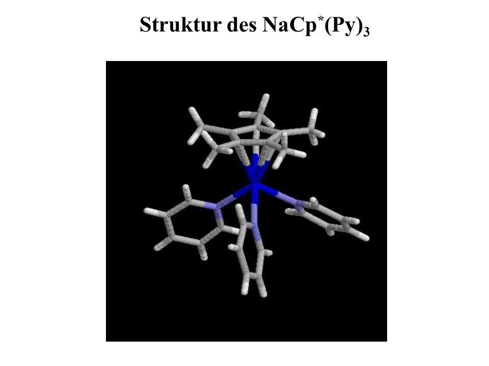 Struktur des NaCp * (Py) 3