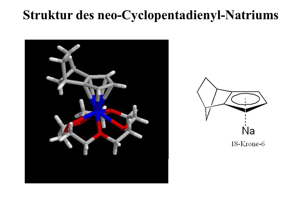 Struktur des neo-Cyclopentadienyl-Natriums