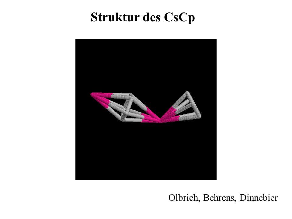 Struktur des CsCp Olbrich, Behrens, Dinnebier