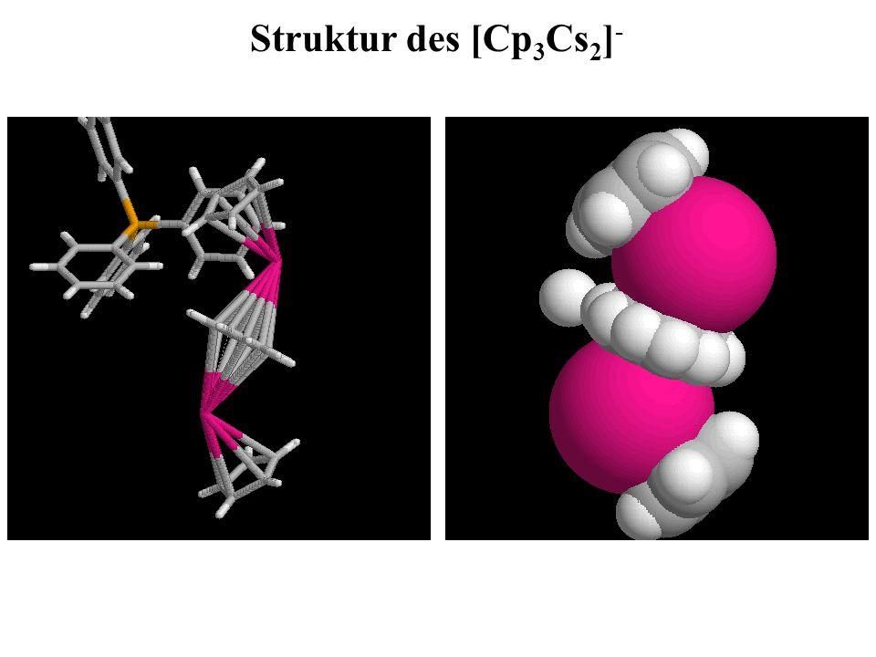 Struktur des [Cp 3 Cs 2 ] -