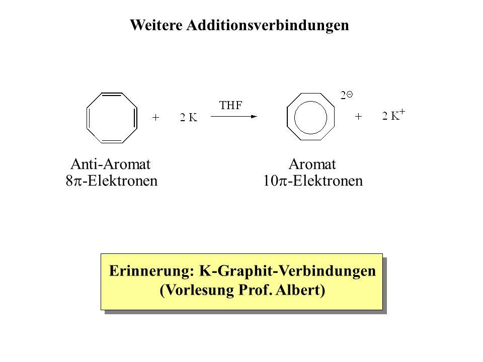 Anti-Aromat 8  -Elektronen Aromat 10  -Elektronen Erinnerung: K-Graphit-Verbindungen (Vorlesung Prof.