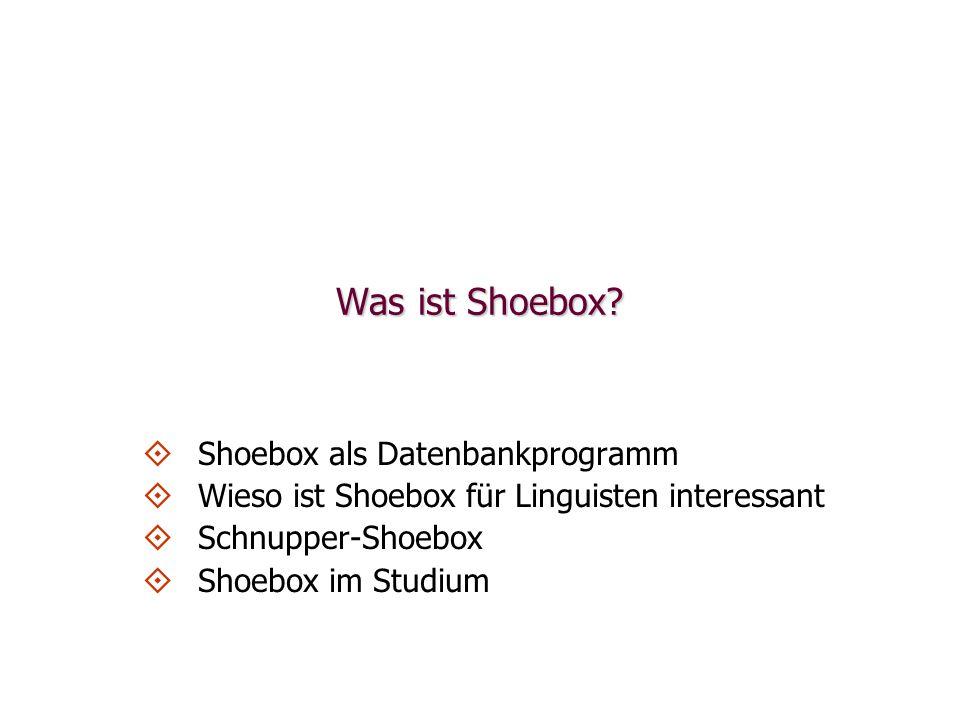 Was ist Shoebox.