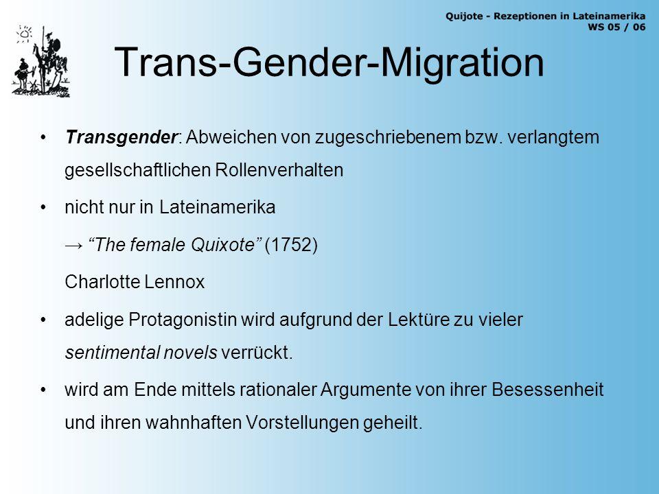 Trans-Gender-Migration Transgender: Abweichen von zugeschriebenem bzw.
