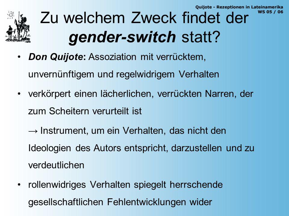 Zu welchem Zweck findet der gender-switch statt.