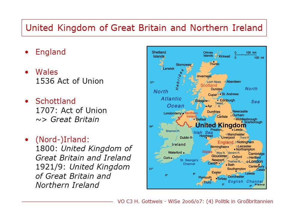 VO C3 H.Gottweis - WiSe 2oo6/o7: (4) Politik in Großbritannien Politik von M.
