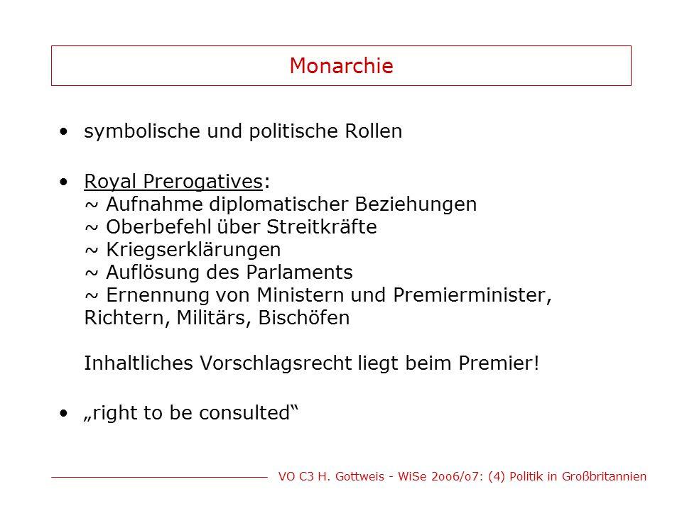 VO C3 H.Gottweis - WiSe 2oo6/o7: (4) Politik in Großbritannien Old Labour (1)staatl.
