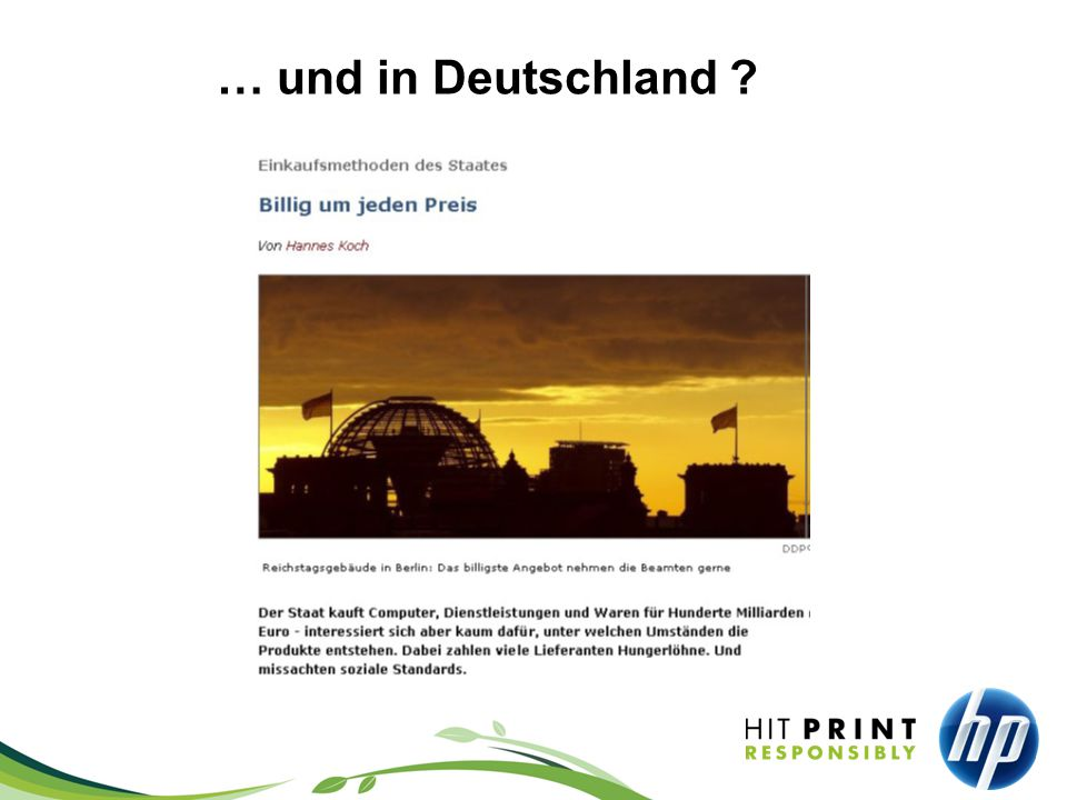 … und in Deutschland ?