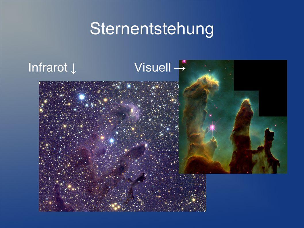 Sternentstehung Infrarot ↓Visuell →