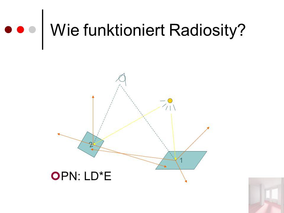 Wie funktioniert Radiosity? PN: LD*E 1 2