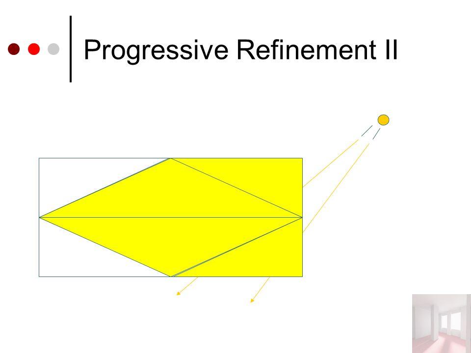 Progressive Refinement II
