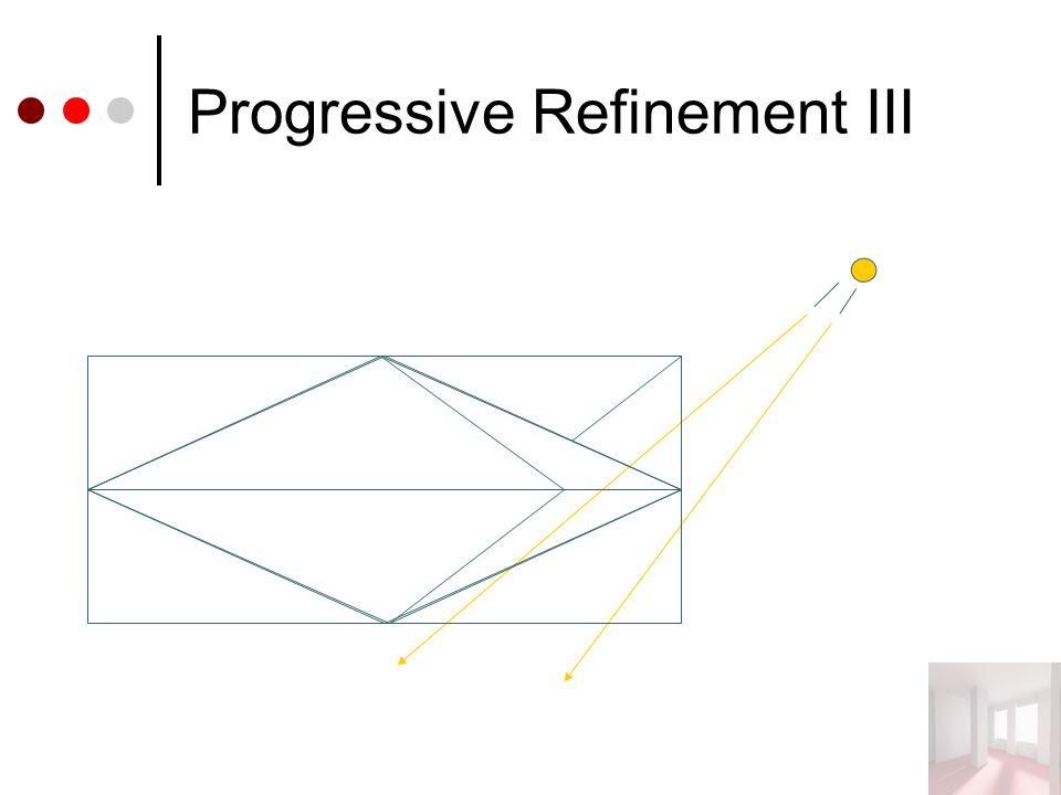 Progressive Refinement III