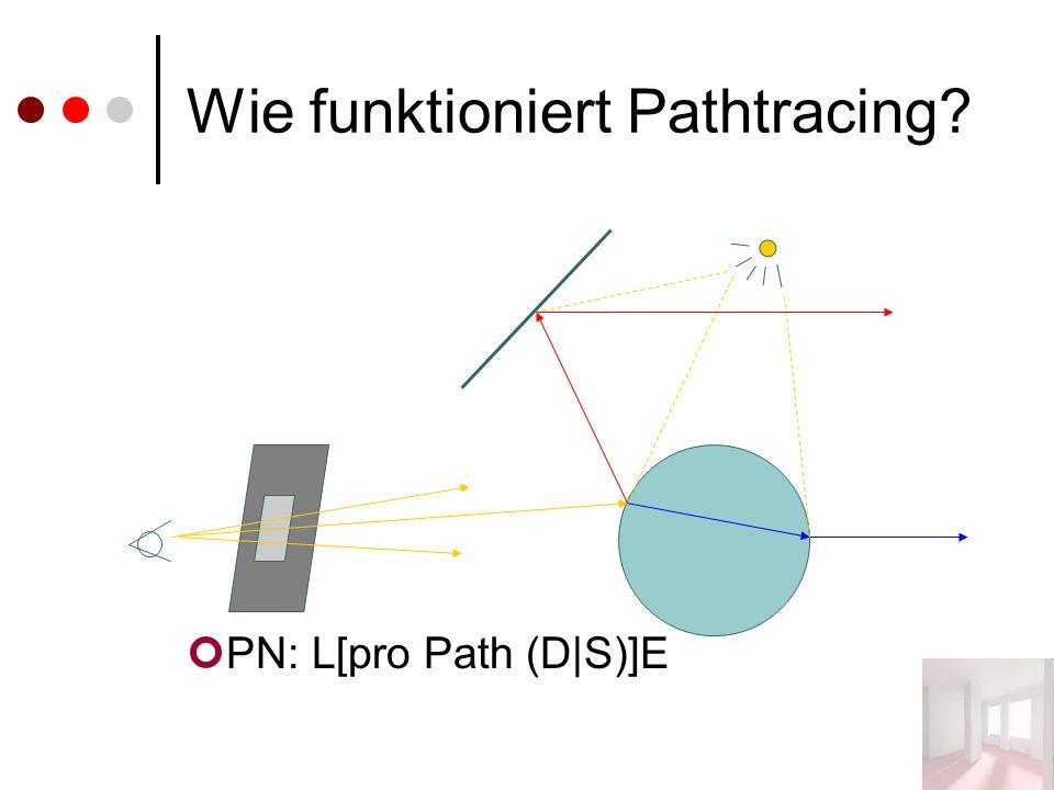 Wie funktioniert Pathtracing? PN: L[pro Path (D|S)]E