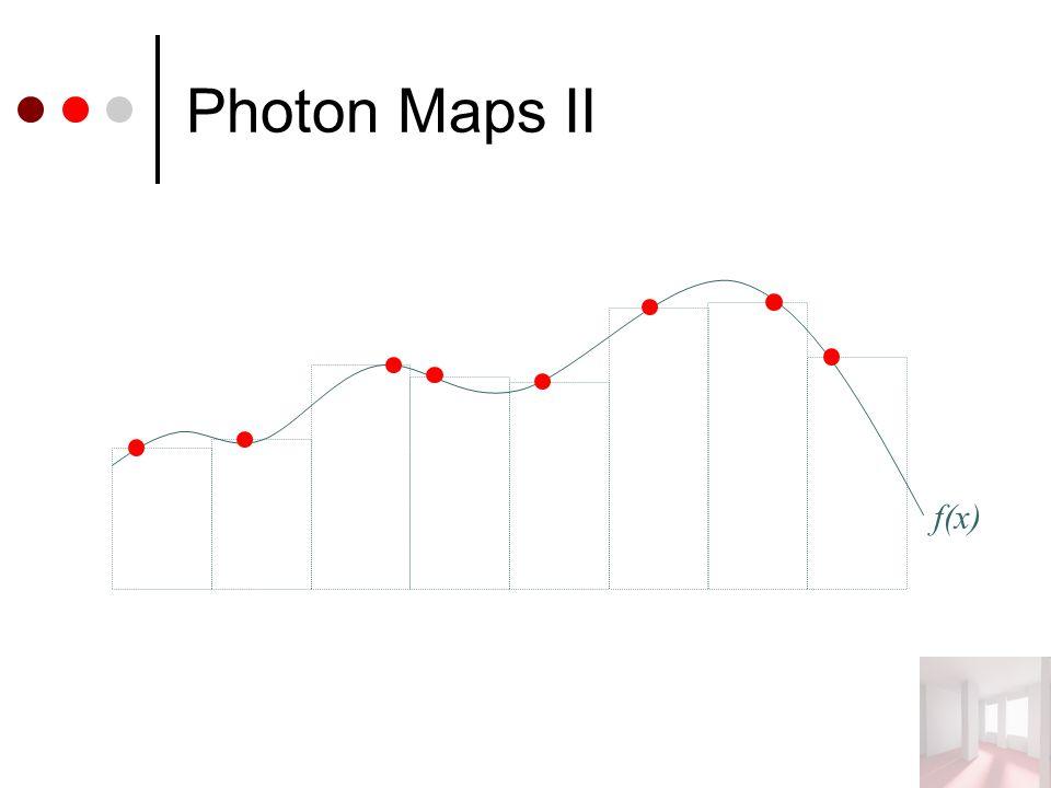 Photon Maps II f(x)