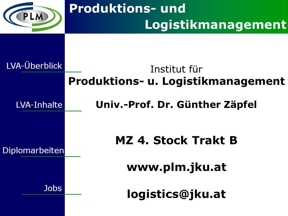 Produktions- und Logistikmanagement Institut für Produktions- u.