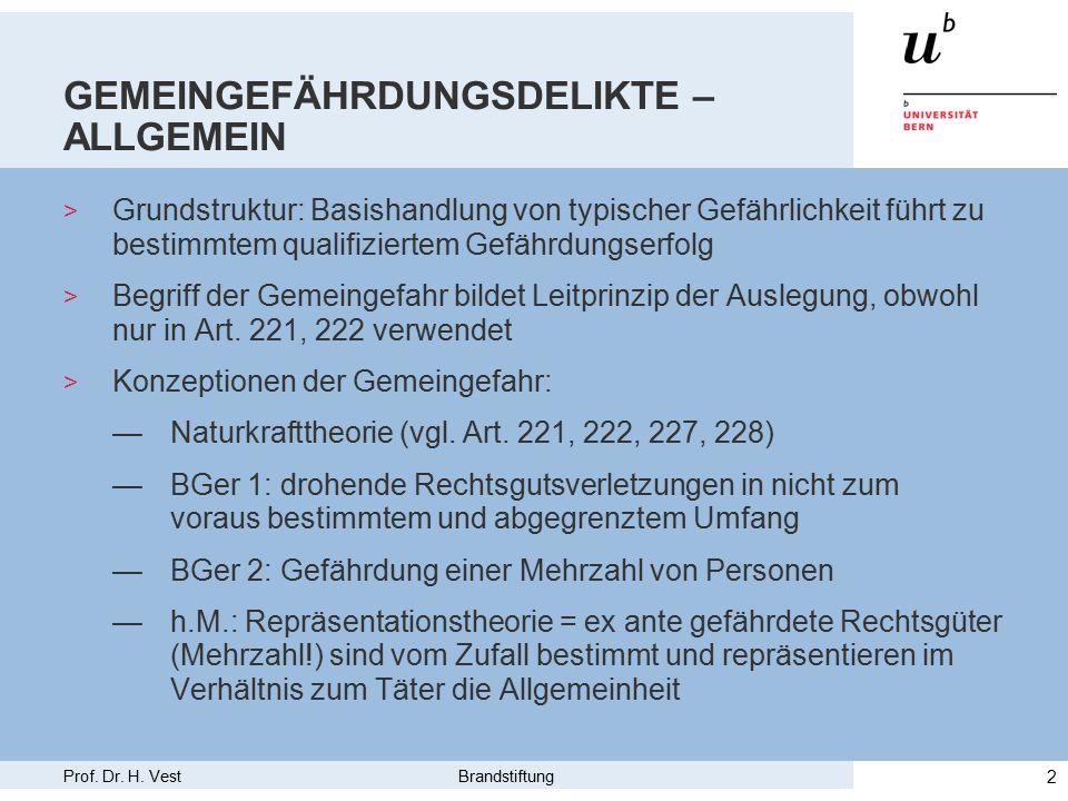 Prof.Dr. H. Vest Brandstiftung 3 BRANDSTIFTUNG (ART.221) – ALLGEMEIN > Art.