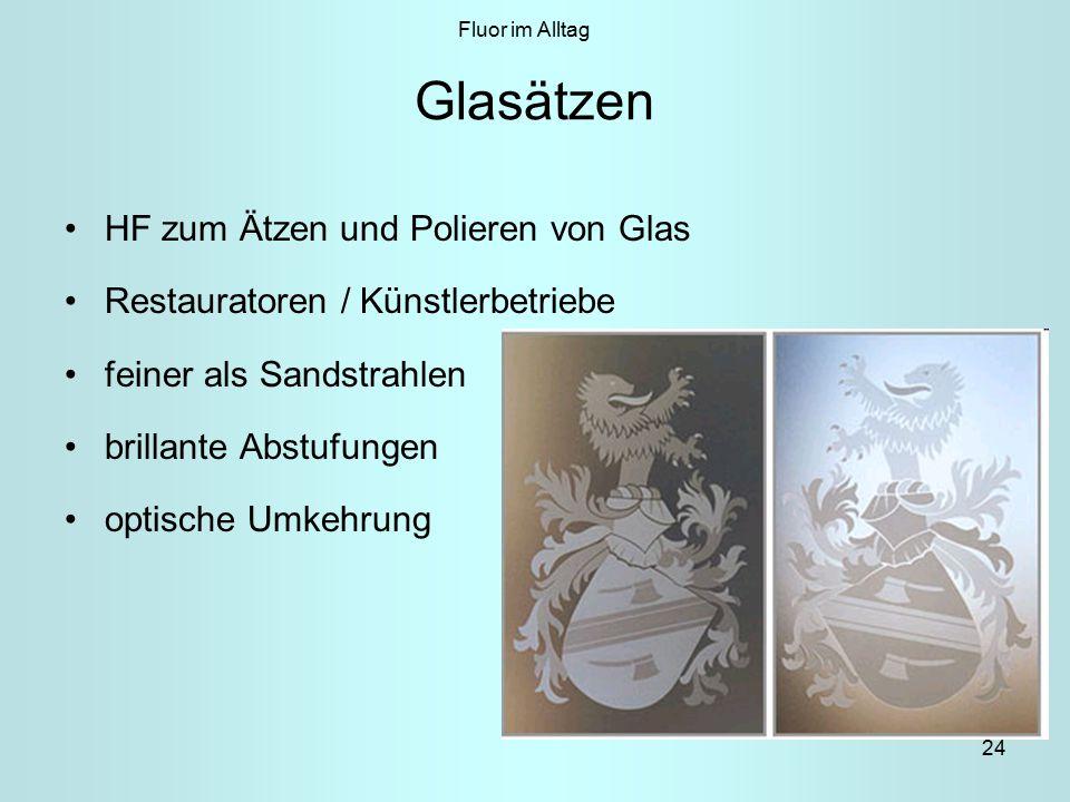 24 Glasätzen HF zum Ätzen und Polieren von Glas Restauratoren / Künstlerbetriebe feiner als Sandstrahlen brillante Abstufungen optische Umkehrung Fluor im Alltag