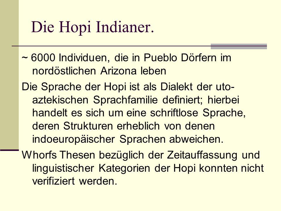 Die Hopi Indianer.