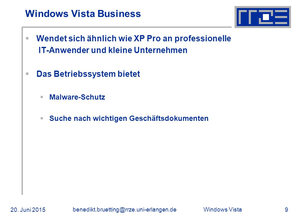 Windows Vista 20.
