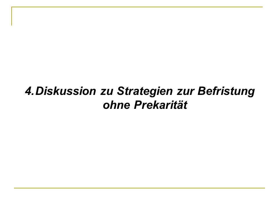 4.Diskussion zu Strategien zur Befristung ohne Prekarität