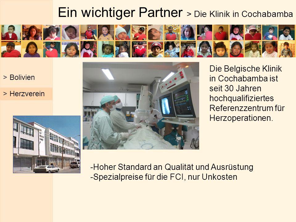 Ein wichtiger Partner > Die Klinik in Cochabamba -Hoher Standard an Qualität und Ausrüstung -Spezialpreise für die FCI, nur Unkosten > Bolivien > Herz