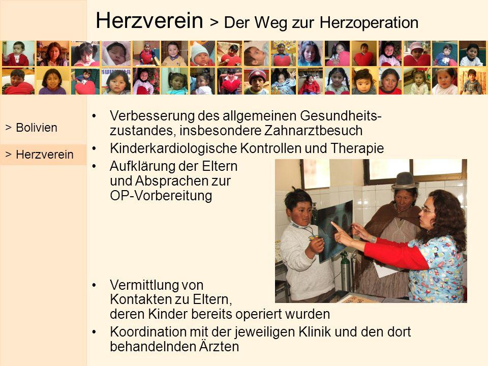 Herzverein > Der Weg zur Herzoperation Verbesserung des allgemeinen Gesundheits- zustandes, insbesondere Zahnarztbesuch Kinderkardiologische Kontrolle