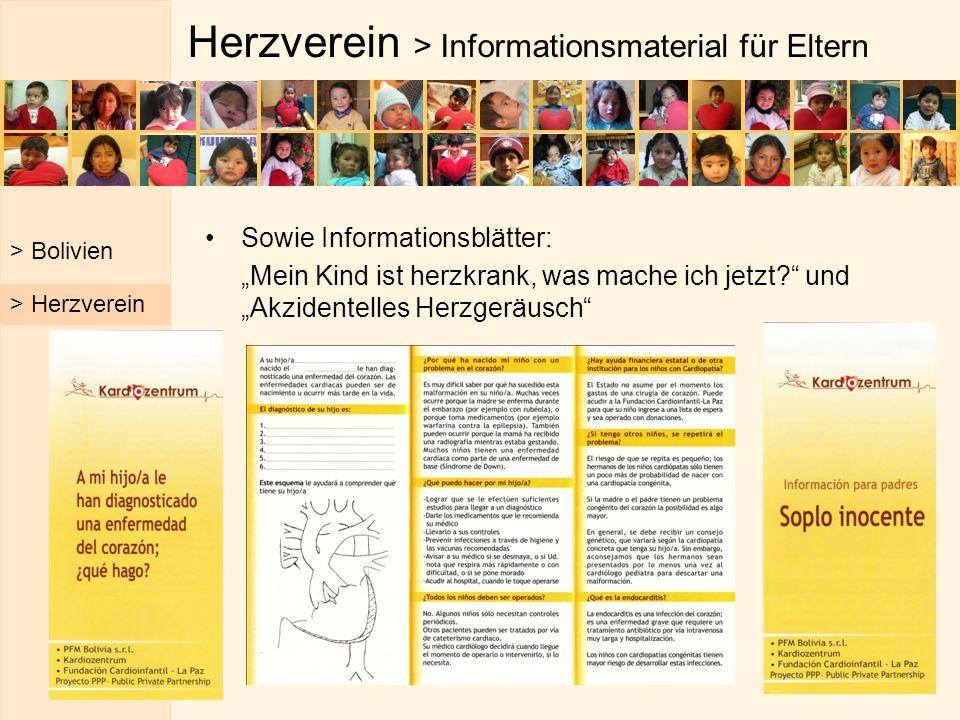 """Herzverein > Informationsmaterial für Eltern Sowie Informationsblätter: """"Mein Kind ist herzkrank, was mache ich jetzt?"""" und """"Akzidentelles Herzgeräusc"""