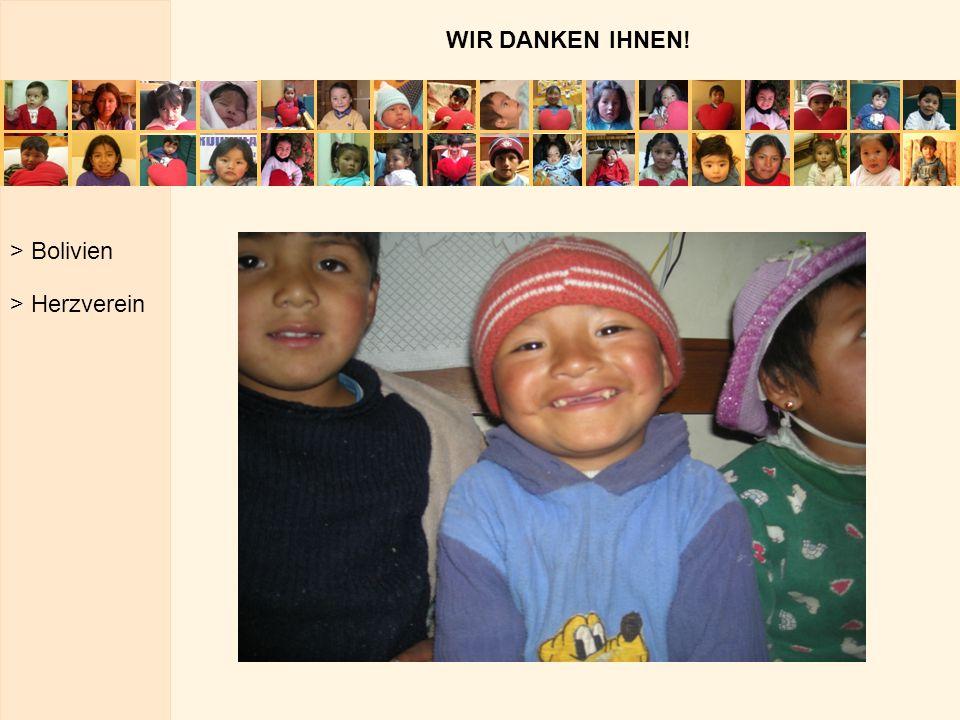 WIR DANKEN IHNEN! > Bolivien > Herzverein