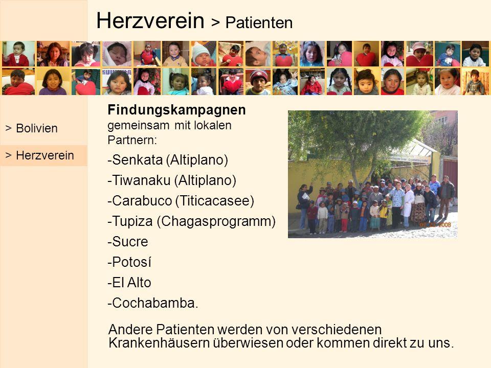 Herzverein > Patienten Andere Patienten werden von verschiedenen Krankenhäusern überwiesen oder kommen direkt zu uns. > Bolivien > Herzverein Findungs