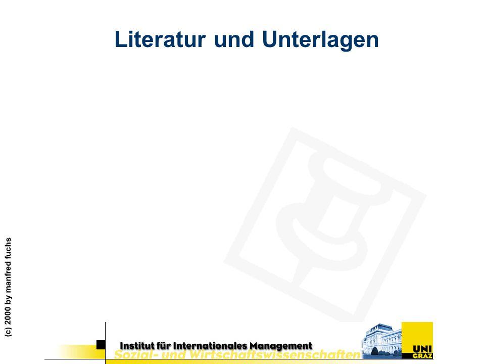 (c) 2000 by manfred fuchs Literatur und Unterlagen