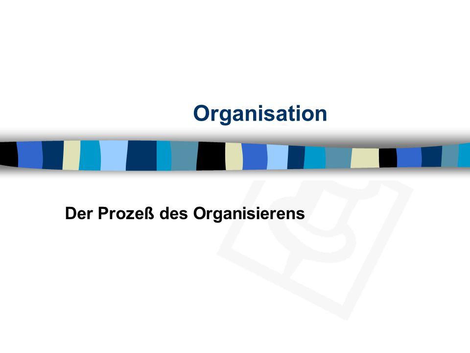 Organisation Der Prozeß des Organisierens