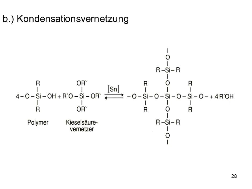 28 b.) Kondensationsvernetzung