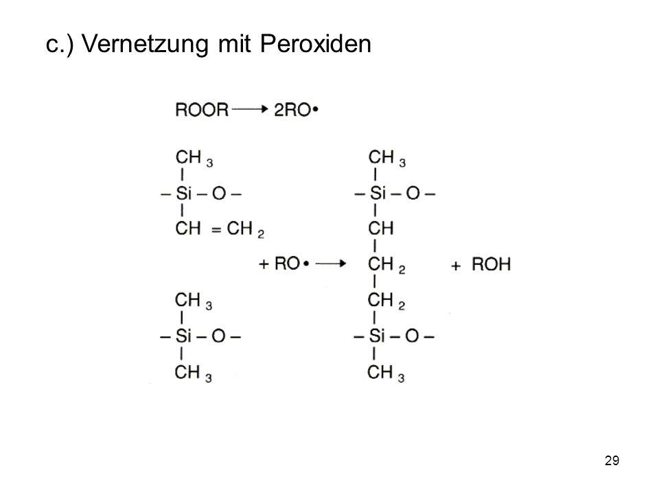 29 c.) Vernetzung mit Peroxiden