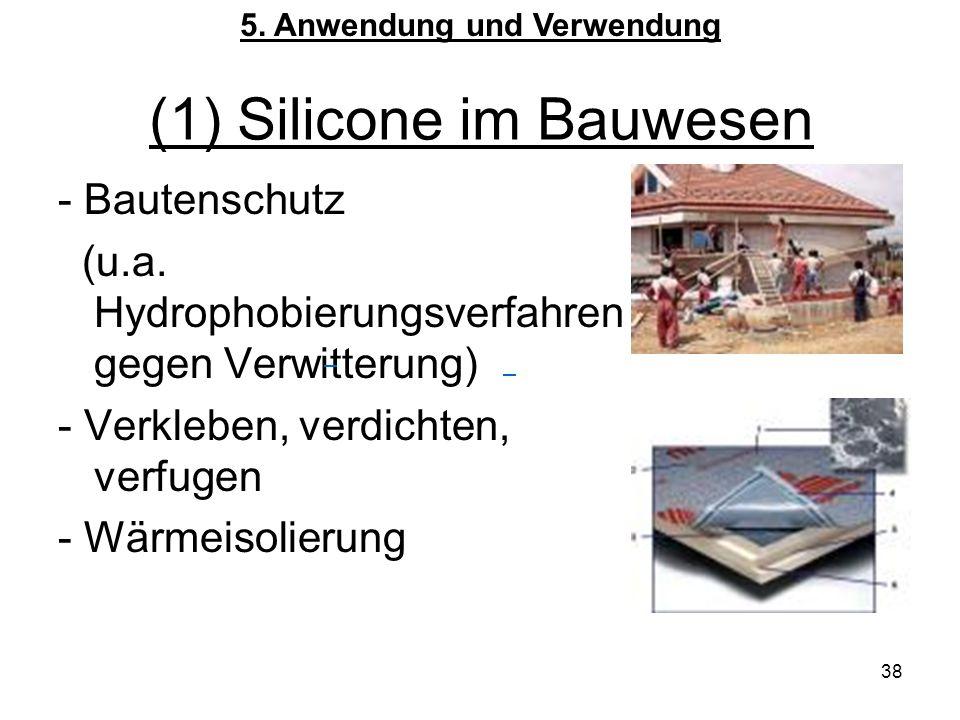 38 (1) Silicone im Bauwesen - Bautenschutz (u.a.