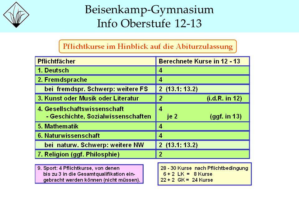 Beisenkamp-Gymnasium Info Oberstufe 12-13