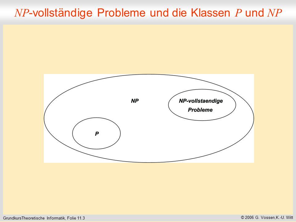 GrundkursTheoretische Informatik, Folie 11.3 © 2006 G.