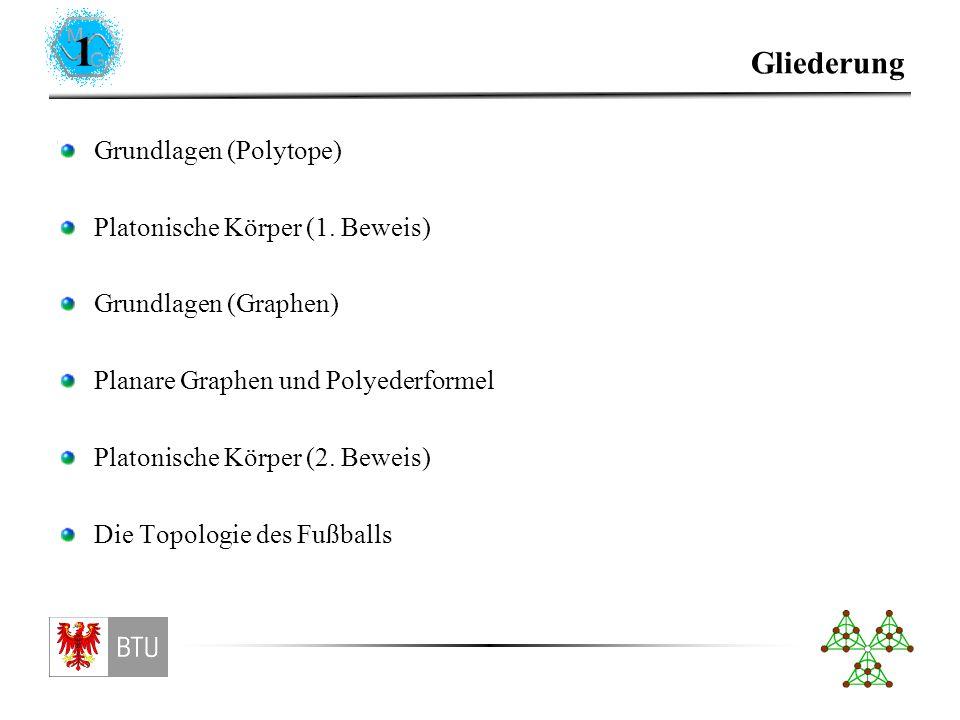 1 Gliederung Grundlagen (Polytope) Platonische Körper (1.
