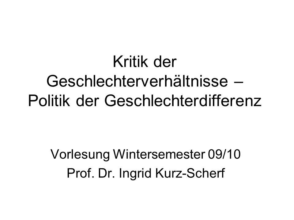 Themenplan (1) Basistext (2) Vertiefung 08.12.09 Gleichheit und Differenz (1) Klinger, Cornelia 1990: Welche Gleichheit und welche Differenz.