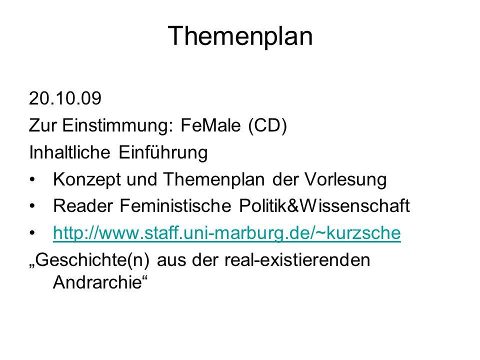 """Themenplan (1) Basistext (2) Vertiefung 12.01.10 Intersektionalität: """"race, class, gender (1) Clara Zetkin, Jutta Menschik, Claudia von Braunmühl und Brigitte Young in Kurz-Scherf, Ingrid u.a."""