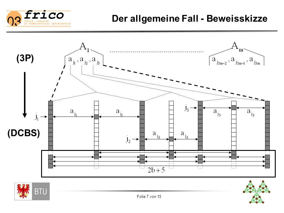 Folie 7 von 15 Der allgemeine Fall - Beweisskizze (3P) (DCBS)