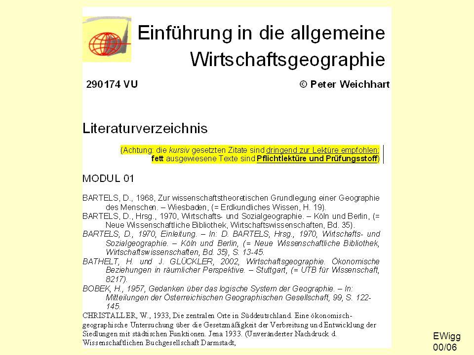 Literaturhinweise EWigg 00/06