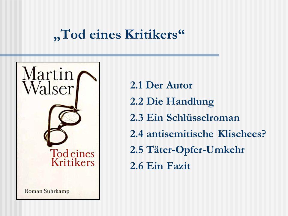 Die öffentliche Debatte  Der offene Brief Frank Schirmmachers  Pressemitteilung des Suhrkamp-Verlages  Die erste Reaktion Martin Walsers  Kalkül Schirrmachers vs.