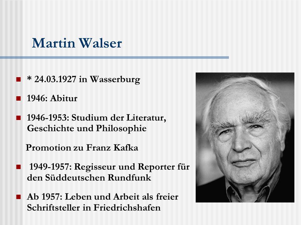 """Martin Walser & """"Political Correctness Der Roman """"Ohne einander handelt von """"Political correctness bei der Behandlung der NS-Geschichte."""