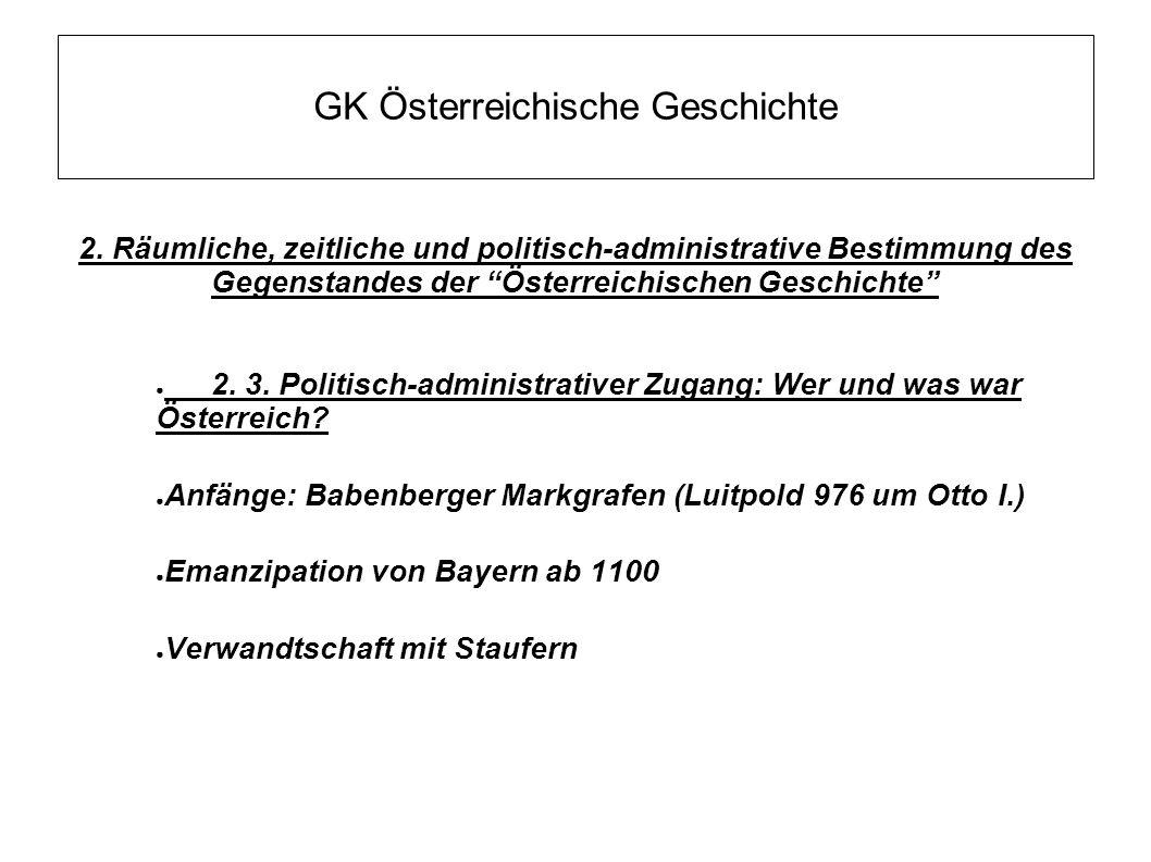 GK Österreichische Geschichte 2.