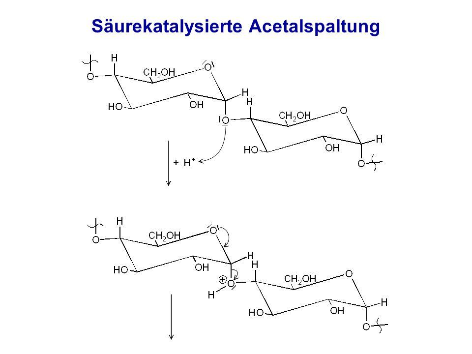 Säurekatalysierte Acetalspaltung