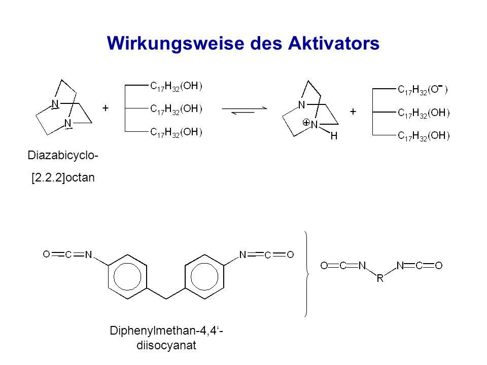 Wirkungsweise des Aktivators Diphenylmethan-4,4'- diisocyanat + + Diazabicyclo- [2.2.2]octan