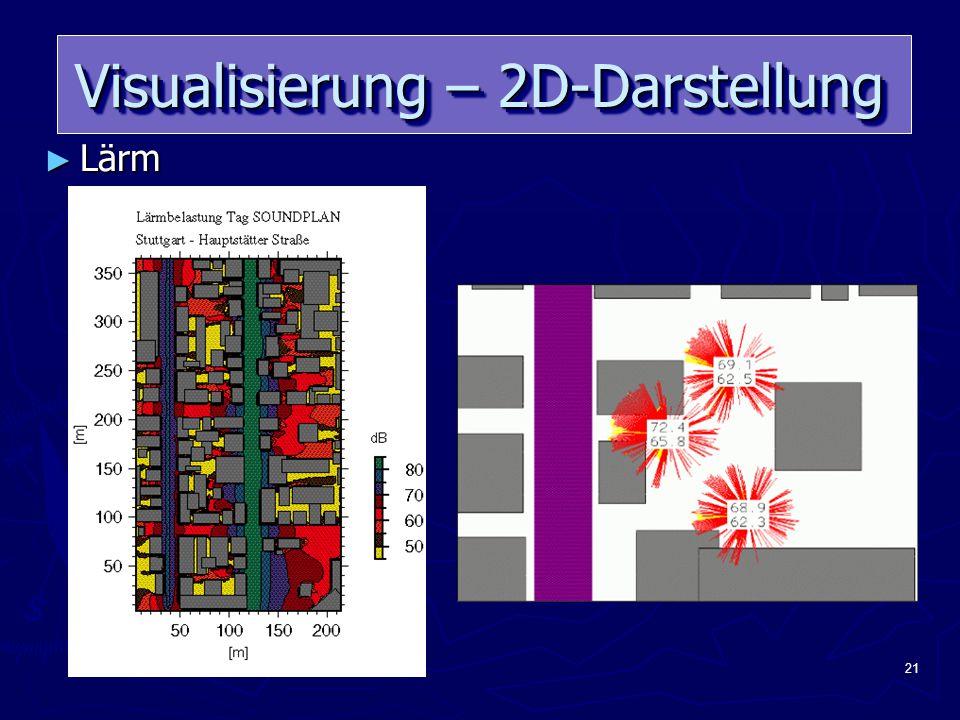 21 Visualisierung – 2D-Darstellung ► Lärm